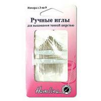 Hemline 200.39 Иглы ручные для вышивания тонкой шерстью N3-9