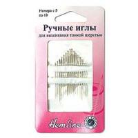 Hemline 200.510 Иглы ручные для вышивания тонкой шерстью N5-10