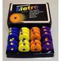 Hemline +253.MET.D Сантиметр-рулетка, набор цветной в коробке - дисплее