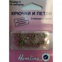Hemline 400.0 Крючки петли 14 шт. никель №0