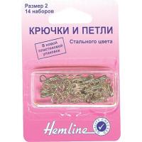 Hemline 400.3 Крючки петли 14 шт. никель №3