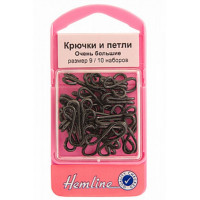 Hemline 401.9 Крючки петли 10 шт. черный №9