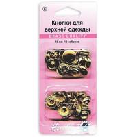 Hemline 405R.G Кнопки для одежды золото, металл