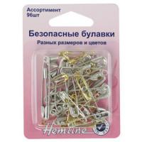Hemline 410.99.96 Булавки «Hemline» 415.99.96 разных размеров и цветов  96шт.