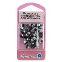 Hemline 435.B Люверсы с устройством для установки, чёрный
