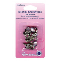 Hemline 440.GYPL Кнопки для блузок (серый перламутр)
