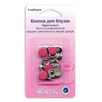 Hemline 440.RD Кнопки для блузок (красный)