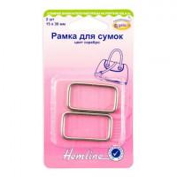 Hemline 4503.30.NK Рамка для сумок   30 мм,  серебро