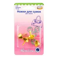 Hemline 4506C.GD Ножки для сумок 15 мм, 4 шт, металл, золотой