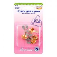 Hemline 4506C.RG Ножки для сумок 15 мм, розовое золото