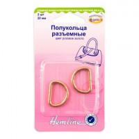 Hemline 4516.20.RG Полукольца разъемные   20 мм,  розовое золото