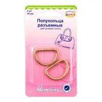 Hemline 4516.25.RG Полукольца разъемные  25 мм,  розовое золото