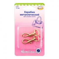 Hemline 4517.13.RG Карабин металлический, розовое золото