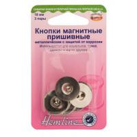 Hemline 481.NK Кнопки магнитные пришивные 18 мм,  никель