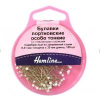 Hemline 674 Булавки портновские особо тонкие «Hemline» 674  41 мм, 100шт.,  белые