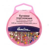 Hemline 679 Булавки портновские с головками-пуговичками, «Hemline» 679  34 мм, 95 шт., разноцветные