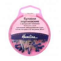 Hemline 721 Булавки портновские с фигурными головками, «Hemline» 721 42 мм, 60 шт., синий