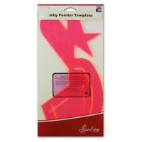 "Hemline ERGG02.PNK Лекало прозрачное ""Jelly Pointer"" для квилтинга, пластик, цвет розовый"