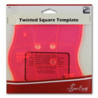 """Hemline ERGG03.PNK Лекало прозрачное для квилтинга """"Изогнутый квадрат"""", пластик, цвет розовый"""