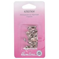 Hemline Клепки «Hemline» 467.N, никель 20 шт. в блистере Клепки «Hemline» 467.N, никель 20 шт. в блистере