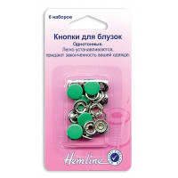 "Hemline Кнопки для блузок ""Hemline"" 440.EM в блистере, 11 мм, зеленый Кнопки для блузок ""Hemline"" 440.EM в блистере, 11 мм, зеленый"