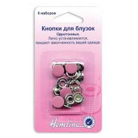"""Hemline Кнопки """"Hemline"""" 440.PK  6 штук, розовый,11 мм Кнопки """"Hemline"""" 440.PK  6 штук, розовый,11 мм"""