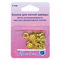 "Hemline Кнопки ""Hemline"" 445.GD 6 штук, золотые, 11 мм Кнопки ""Hemline"" 445.GD 6 штук, золотые, 11 мм"