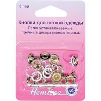 """Hemline Кнопки """"Hemline"""" 445.PK  6 штук, розовые,11 мм Кнопки """"Hemline"""" 445.PK  6 штук, розовые,11 мм"""
