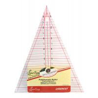 """Hemline NL4157 Линейка-треугольник """"Hemline"""" с вершиной 45°, 8 1/2"""""""" X 7"""""""