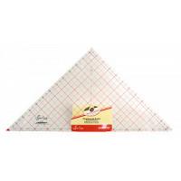 """Hemline NL4205 Линейка-треугольник с углом 90*, градация в дюймах, 12 1/2"""" x 12 7/8"""""""