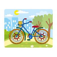 """Hobbius FBT-02 """"Hobbius"""" FBT-02 Набор для творчества """"Аппликация фольгой"""" 20 x 25 см №07 """"Велосипед"""""""