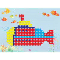 """Hobbius MDS-06 """"Hobbius"""" MDS-06 Мозаика 20.5 x 29 см №04 Подводная лодка"""
