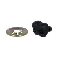 """HobbyBe ANS- 15 Нос пластиковый с шайбами """"HobbyBe"""" ANS- 15  15 мм 1шт. черный"""