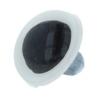 HobbyBe CRP- 9 Глаза кристальные пришивные CRP- 9 d 9 мм 4 шт. белый