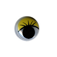 "HobbyBe MER-12 ""HobbyBe"" MER-12 Глаза круглые с бегающими зрачками цв. d 12 мм 2 шт.(пара) желтый"