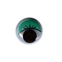 """HobbyBe MER-12 """"HobbyBe"""" MER-12 Глаза круглые с бегающими зрачками цв. d 12 мм 2 шт.(пара) зеленый"""
