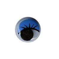 """HobbyBe MER-12 """"HobbyBe"""" MER-12 Глаза круглые с бегающими зрачками цв. d 12 мм 2 шт.(пара) синий"""