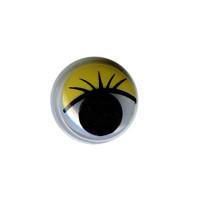 "HobbyBe MER-8 ""HobbyBe"" MER-8 Глаза круглые с бегающими зрачками цв. d 8 мм 2 шт.(пара) желтый"