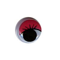 """HobbyBe MER-8 """"HobbyBe"""" MER-8 Глаза круглые с бегающими зрачками цв. d 8 мм 2 шт.(пара) красный"""