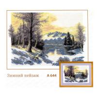 "Hobby&Pro 00000044953 А-644 Набор для вышивания Hobby&Pro ""Зимний пейзаж"""