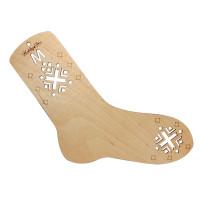 Hobby&Pro АРС-23194-1-АРС0001212144 НВ-002 Блокатор-шаблон для вязания носка M (23 см по стельке), фанера Hobby&Pro