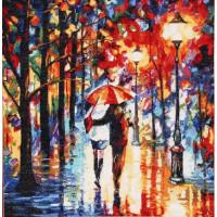 Hobby&Pro 580911 722 Набор для вышивания Hobby&Pro 'Прогулка под дождем', 40*41 см