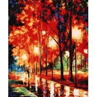 Hobby&Pro 581893 763 Набор для вышивания Hobby&Pro 'Дождливый вечер', 31*38 см