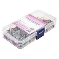 Hobby&Pro 7729537 Булавки портновские в пластиковой коробке, ассорти, 236шт Hobby&Pro 100404