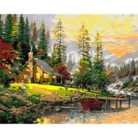 Hobruk  508124 HS0010 Набор для рисования по номерам 'Дом у реки' 40*50см