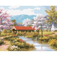 Hobruk  508127 HS0040 Набор для рисования по номерам 'Мост через реку' 40*50см