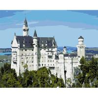 Hobruk  508129 HS0048 Набор для рисования по номерам 'Замок Нойшванштайн'40*50см