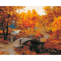 Hobruk  Х0212206 HS0119 Набор для рисования по номерам 'Осенний парк' 40*50см