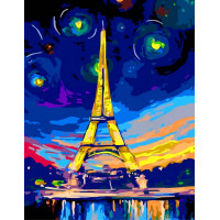 Hobruk  Х0212214 HS0197 Набор для рисования по номерам 'Эйфелева башня' 40*50см