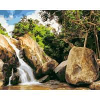 Hobruk  Х0212221 HS0225 Набор для рисования по номерам 'Водопад в Таиланде' 40*50см